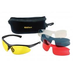 Allen Pro Class Shooting glasses (4 lens pack)