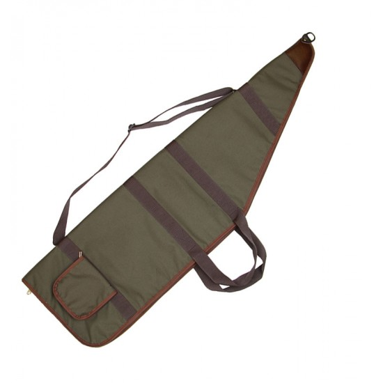 """Leather topped Earl extra Wide Gun Bag 45"""""""