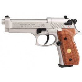 Beretta M92FS Nickel Wood Grip