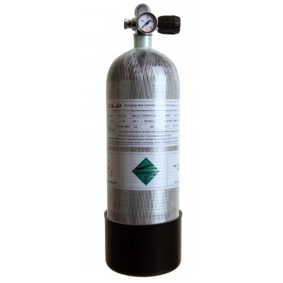 6.8 Ltr Carbon Fibre Bottle complete